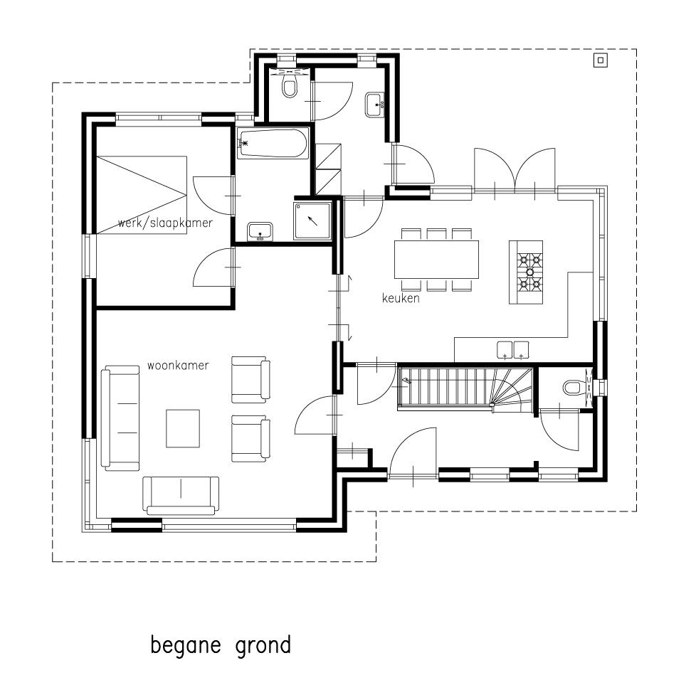 Architecten plus for Plattegrond woning